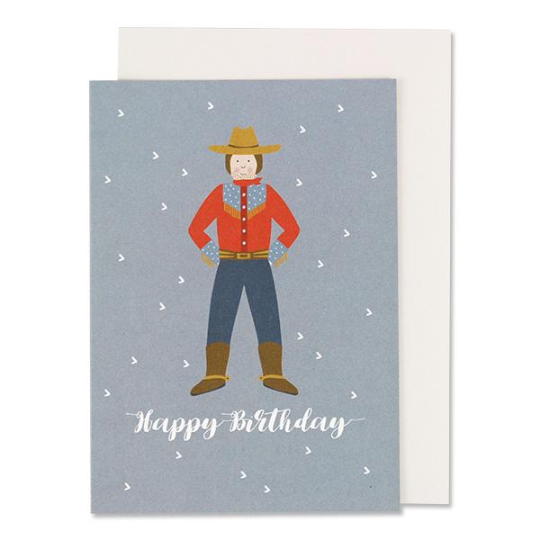 Folded Card Cowboy Happy Birthday