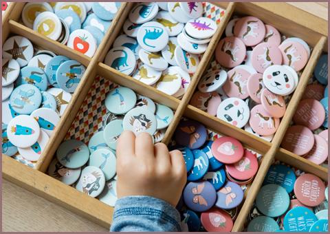 Buttons und Magnete